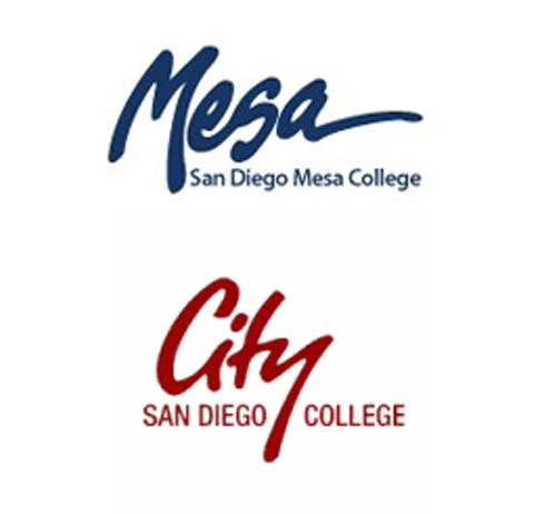 City College and Mesa College logos